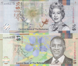 Bancnota Bahamas 1/2 si 1 Dolar 2017/19 - PNew UNC ( set x 2 - hibrid )