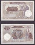 Serbia 1941 - 100 dinara, ocup.germana, XF+/aUNC