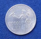 Moneda din argint 100.000 Lei 1946  Regele Mihai - PACEA