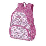 Ghiozdan Magic flowers, pentru fete, inchidere fermoar, roz