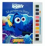 În căutarea lui Dory. Să pictăm cu Dory. Carte de colorat cu pensulă și acuarele, Disney