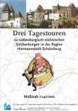 Drei Tagestouren zu Kirchenburgen in der Region Hermannstadt-Schäßburg 1:140 000