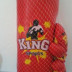 Sac de Box cu manusi pentru copii King Sport