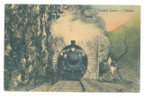 5030 - LOTRU, Valcea, Train on tunnel, Romania - old postcard - used - 1914