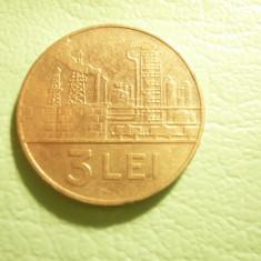 Moneda 3 lei 1966 , cal. f.buna