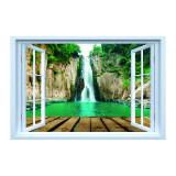 Cumpara ieftin Sticker decorativ efect 3D, 130 x 85 cm vedere cascada