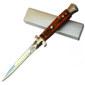 Cutit briceag Stiletto 22 cm, deschidere automata si sistem de blocare