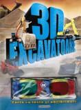 3D - Excavatoare. Carte cu teste și abțibilduri