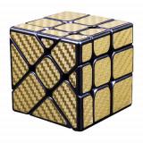 Cumpara ieftin Cub Rubik 3x3x3 Moyu Unequal Fisher fibra de carbon gold , 152CUB