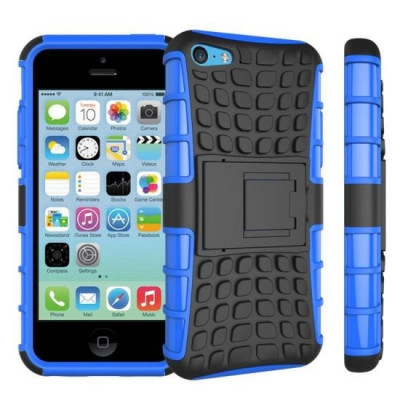 Husa Apple iPhone 5iPhone 5SiPhone SE Forcell Hybrid Panzer Albastru foto