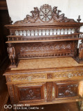 Mobila veche Franța din lemn masiv de stejar sculptat, [en.casa]
