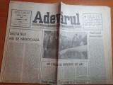 """Ziarul adevarul 8 mai 1990 -art. """"dictatele nu se negociaza """""""
