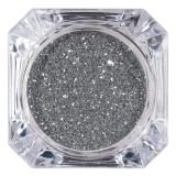 Sclipici Glitter Unghii Pulbere LUXORISE, Argintiu #44