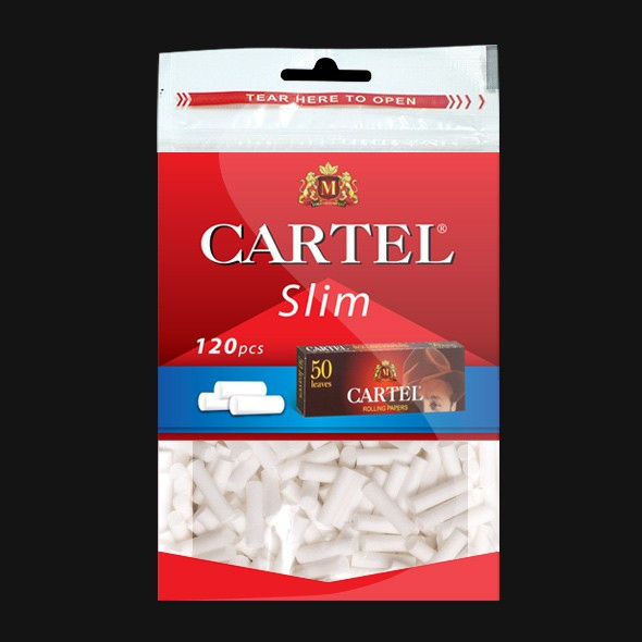 Filtre tigari CARTEL SLIM 6 MM + 1 X FOITE CARTEL RED 70MM