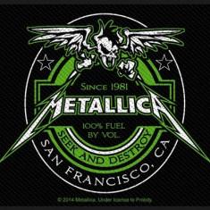 Patch Metallica: Beer Label