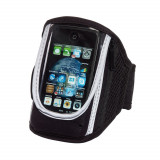 Suport telefon sport pentru brat, Everestus, STT051, neopren, pvc, plastic, negru, laveta inclusa