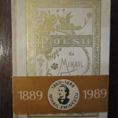 MIHAIL EMINESCU - POESII reproducere 1884( ed.cartonata )