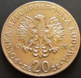 Moneda 20 ZLOTI - POLONIA, anul 1975  *cod 5032 - MARCELI NOWOTCO