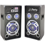 Set boxe karaoke 1200W Party, Bluetooth, SD, AUX