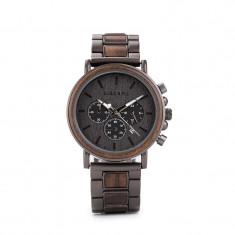 Ceas din lemn Bobo Bird cu curea din lemn, Q26-1 Wooden Lux