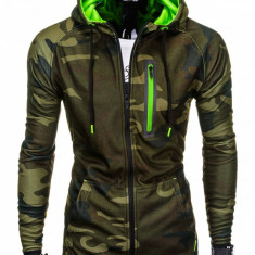 Hanorac pentru barbati, camuflaj verde - B747, XL
