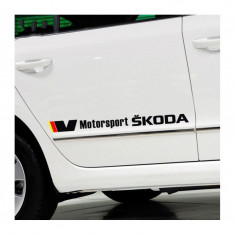 Sticker auto lateral SKODA V