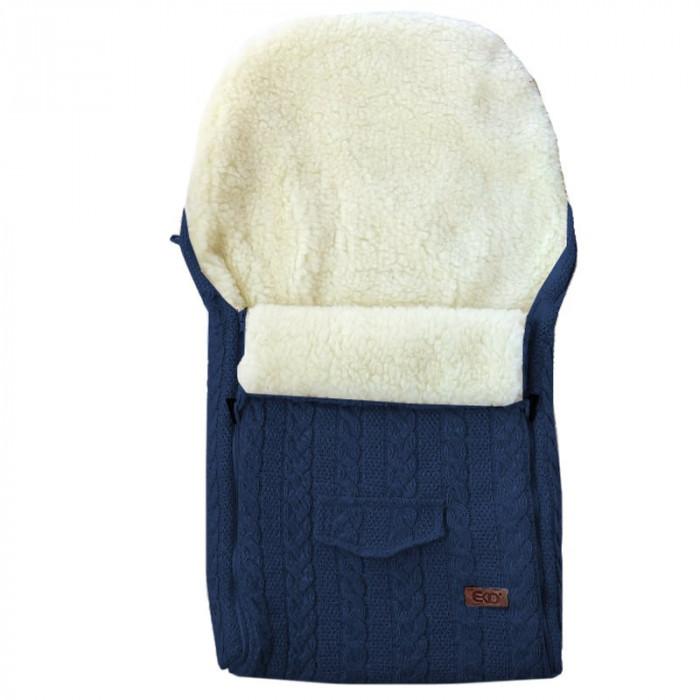 Husa de iarna din lana pentru carucior Eko Navy