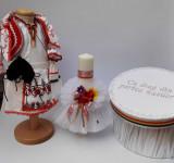 Cumpara ieftin Set Botez Traditional Marina 7 - 3 piese Botez Traditional : costumas, lumanare si cutie