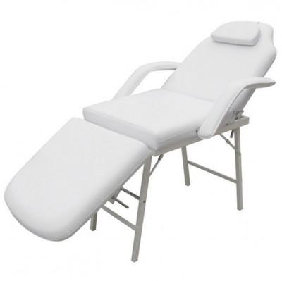 Scaun/pat pentru masaj/cosmetica reglabil alb foto