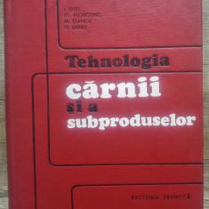 Tehnologia carnii si a subproduselor/ 1969, dedicatie autor