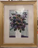 Tablou, Ion Sălișteanu, Vas cu flori de liliac, ulei , tempera/ carton