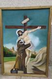 Tablou mare 75/105 cm, ulei pe panza rastignire Isus