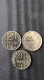 20 KOPEKS U.R.S.S. AN:1962,1979,1981.