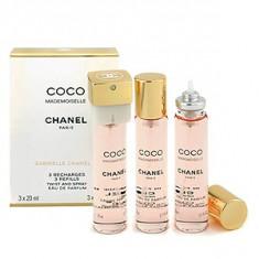 Chanel Coco Mademoiselle EDP Parfum de buzunar rezerva 3x20 ml pentru femei, Apa de parfum, 20 ml
