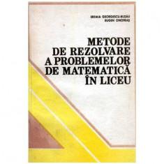 Metode de rezolvare a problemelor de matematica in liceu