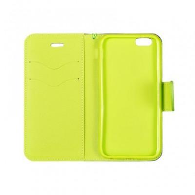 Husa Flip Fancy Samsung A205 / A305 Galaxy A20 / A30 Blue/Lime foto