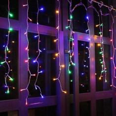 Perdea luminoasa 36 LED-uri, 6 ghirlande, multicolor, interior, alimentare retea