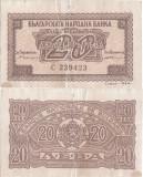 1944, 20 leva ( P-68c ) - Bulgaria