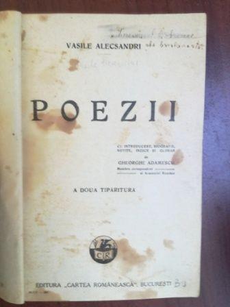 Poezii- Vasile Alecsandri A doua tiparitura