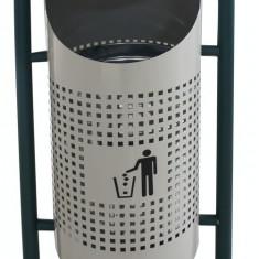 Coș de gunoi în exterior, gri 36x36x91cm. MN0185113 Raki