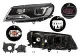 Far Volkswagen Touareg (7p5), 06.2014-, fata, Dreapta, bi-xenon; cu daytime running light; D8S+PY24W+W21/5W; electric; fara unitate control; fara ball