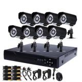 Kit de supraveghere HD 8 camere, CCTV HDMI, infrarosu