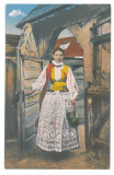 3141 - ETHNIC woman, Ardeal, Romania - old postcard - unused