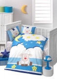 Set lenjerie patut bebe , 4 piese , 100% bumbac Moon, Alte dimensiuni
