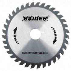 Disc circular pentru lemn, 185mm, 60T, Raider