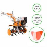 Motocultor Ruris, 731K+Roti Cauciuc+Rarita+Roti Metalice, 7.5 Cp