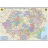 Romania si Republica Moldova. Harta administrativa 3500x2400 mm (GHR5CDG)