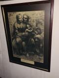 Grafica - Fecioara cu Pruncul, Sfânta Ana și Sfântul Ioan Botezătorul, Religie, Carbune, Realism
