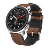 Cumpara ieftin Smartwatch Amazfit GTR 47MM Carcasa Otel Inoxidabil si Curea Maro, Xiaomi