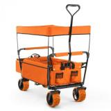 Waldbeck THE Orange SUPREME, cărucior de mână, pliabil, 68 kg,acoperiș de soare